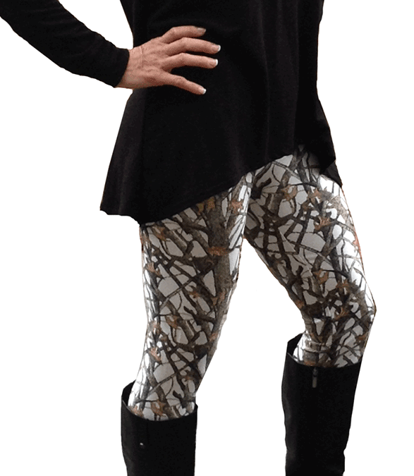 Huntress White Camo Leggings Southern Sisters Designs