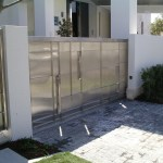 stainless front gate