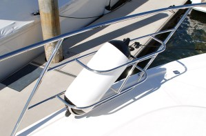 Custom stainless boat Fender Baskets