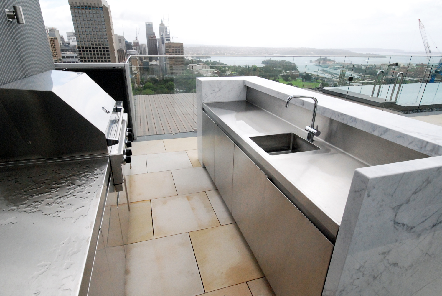 Residential stainless kitchens and benches