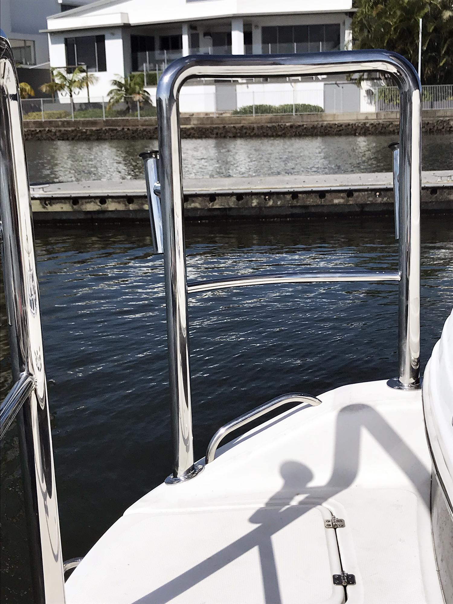 stainless steel stern rail for mustang cruiser