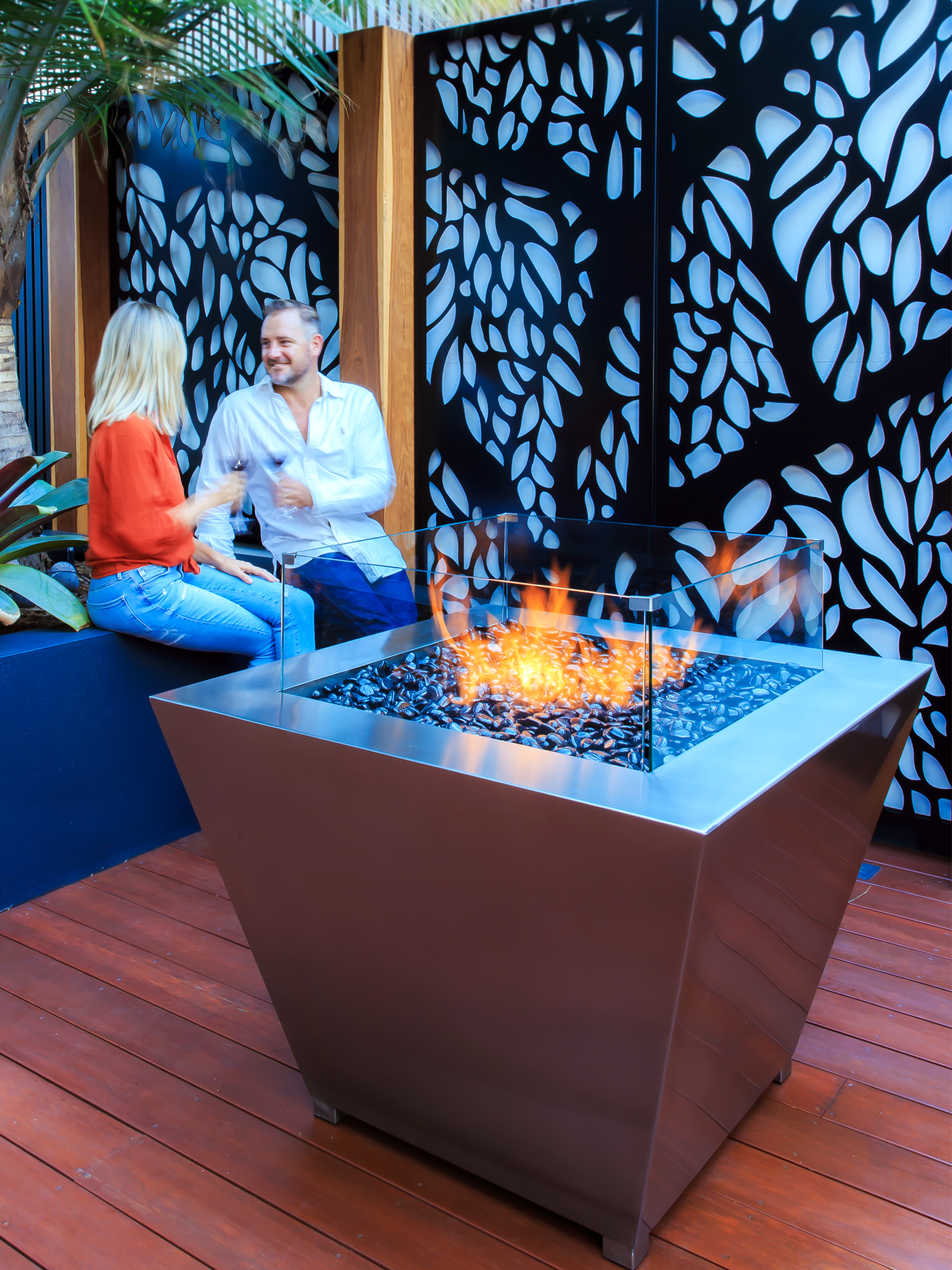 Warm up this winter with a gas fire pit