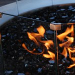 Add ambience to your home with a gas fire pit