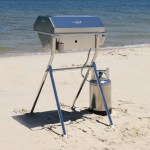 Deluxe Gas BBQ on Beach Stand