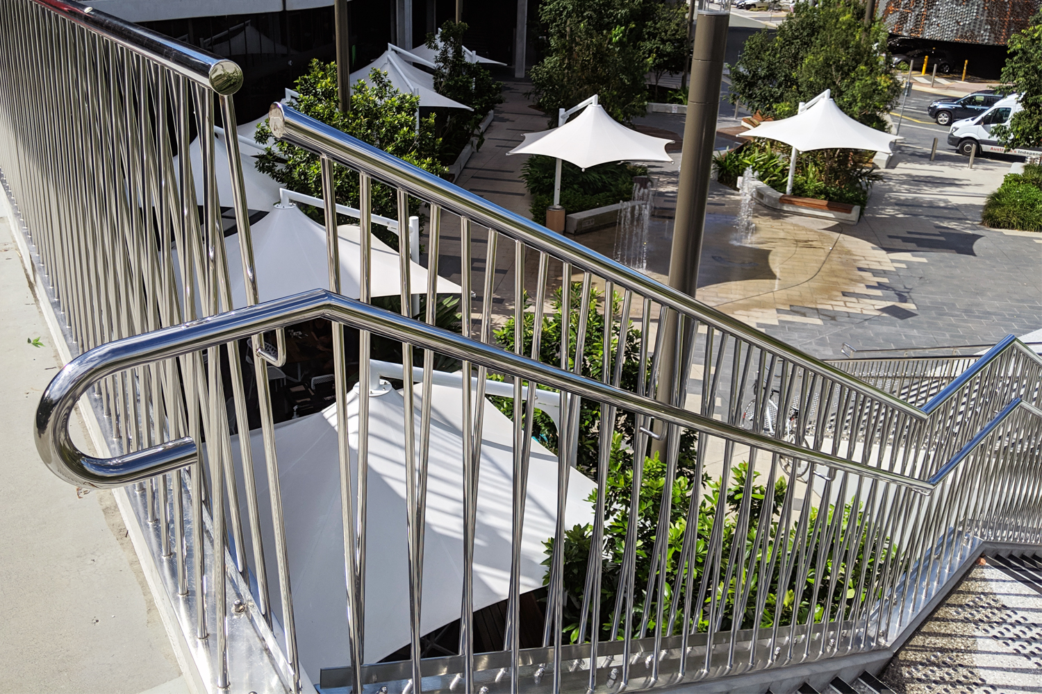 The Kitchens stainless balustrade at Robina Town Centre