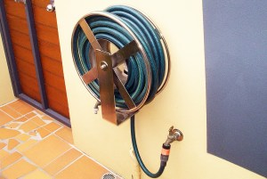 Stainless custom wind up garden hose reel