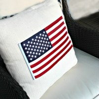 Dollar Tree {No-Sew} American Flag Pillow