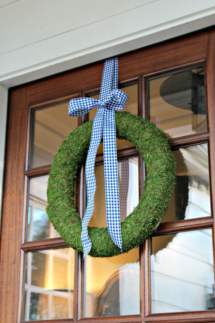 DIY Moss Spring Wreath for Door