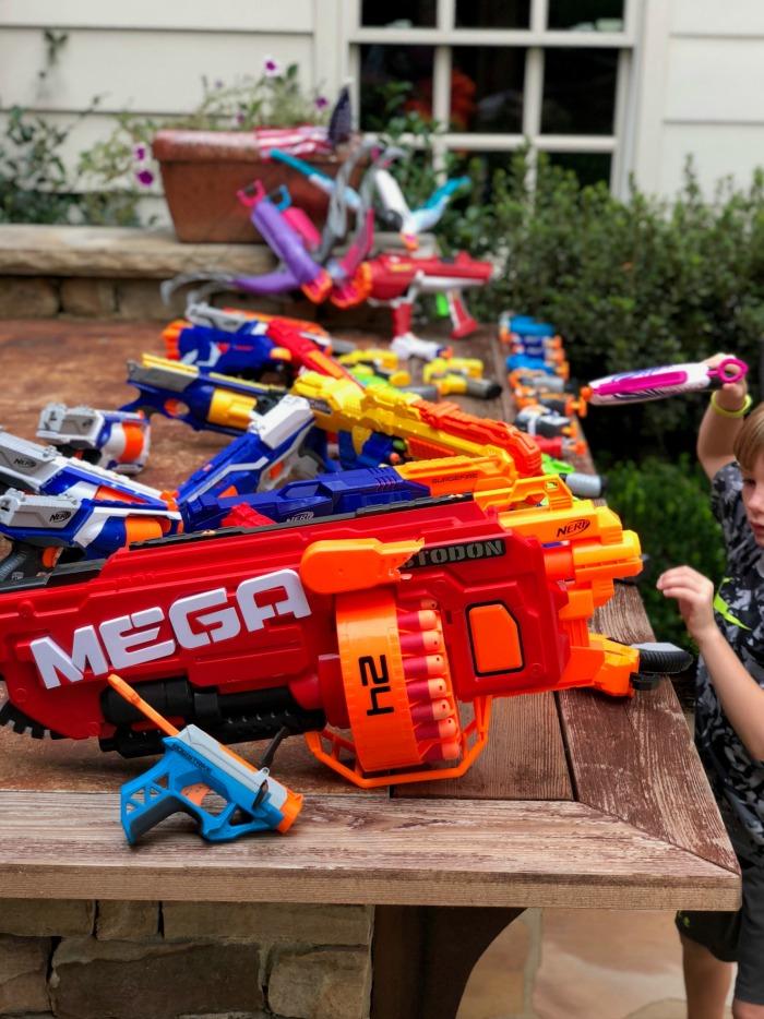 nerf gun birthday party