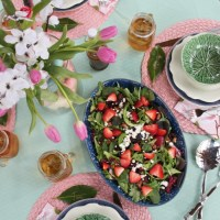 How to Host an Outdoor Spring Soiree and an Irresistible Simple Salad Recipe