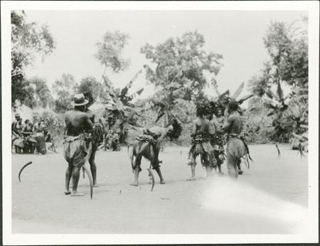 Zande abinza (witchdoctors) dancing
