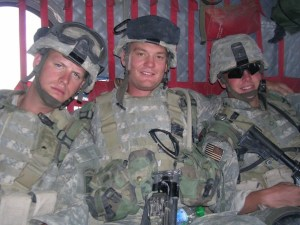 Sgt. Chad Clements, Spc. Scott Long, and myself on one of about 30 CH-47 Chinook rides. Afghanistan, 2005.