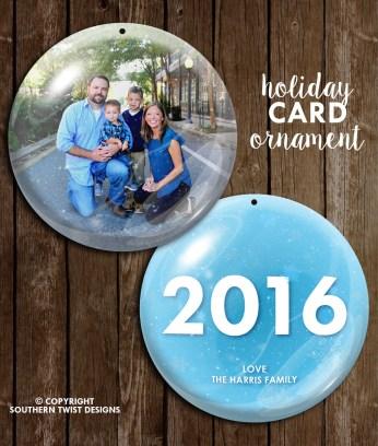 2016 Snow Globe Card/Ornament
