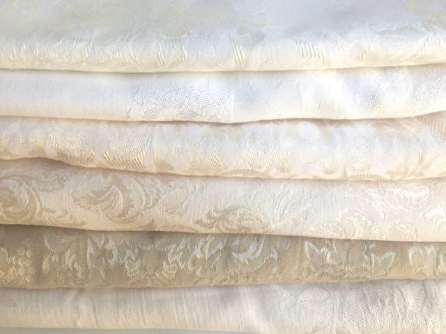 Damask - Creamy/Ecru Tablecloths (Top to Bottom)
