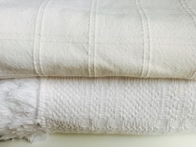 Heavy Cotton - White Tablecloths (Top to Bottom)