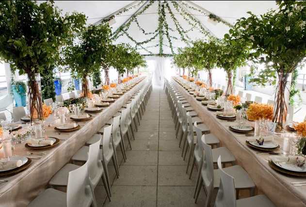Southern weddings  modern tented reception