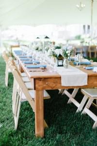 Southern wedding - farm tables