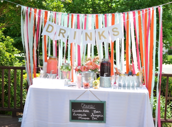 Southern-wedding-colorful-drink-station