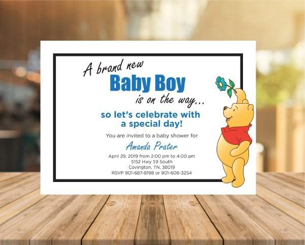 Winnie Pooh Baby Shower Invite