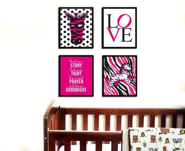 Zebra Pictures for Nursery