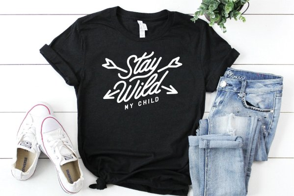 Stay Wild Hand Made T-Shirt