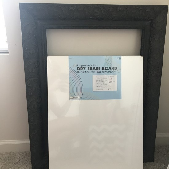Brown Frame & White Dry Erase Board