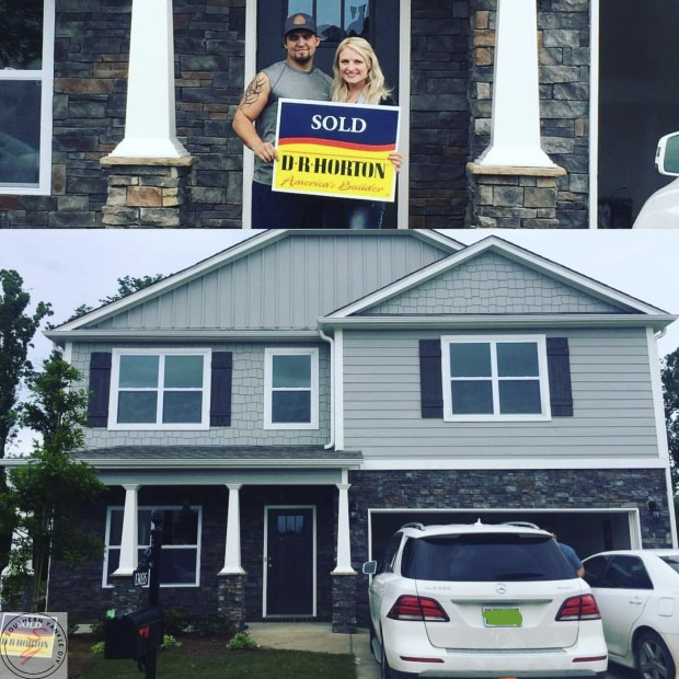 SOLD sign, new house, southern yankee home