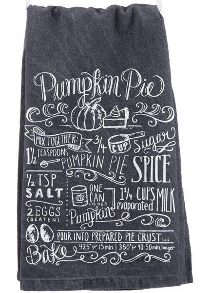 amazon pumpkin pie dish towel