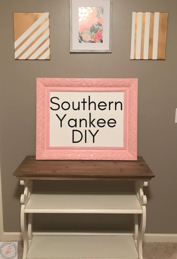 DIY Fancy Frame Whiteboard