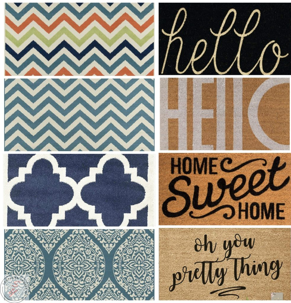 Layered Front Porch Rug Combinations