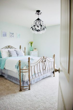 Guest bedroom refresh reveal, renovation, bedroom, guest bedroom, hosting, wayfair furniture, sherwin williams, diy art, diy furniture transformation, contact paper, wallpaper update