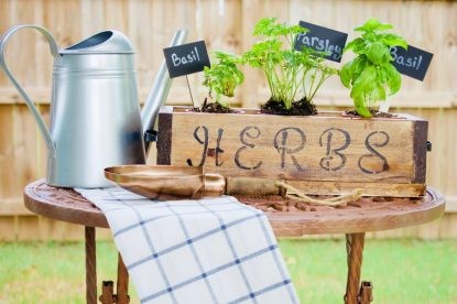 DIY Herb Box, Outdoor, Gardening, herbs, DIY, planter