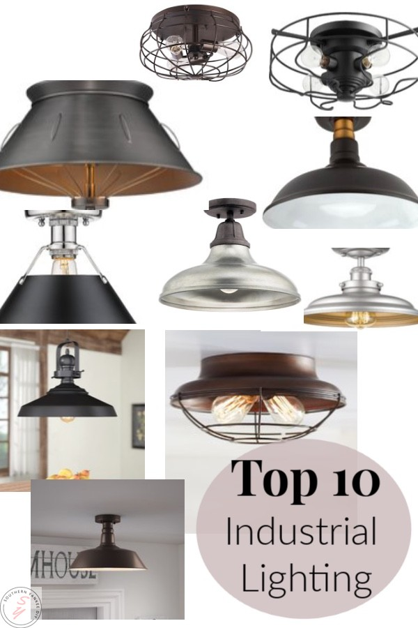 Garage Light, One room challenge, industrial lighting, garage light, pendant lights, flush lighting, budget savvy lighting