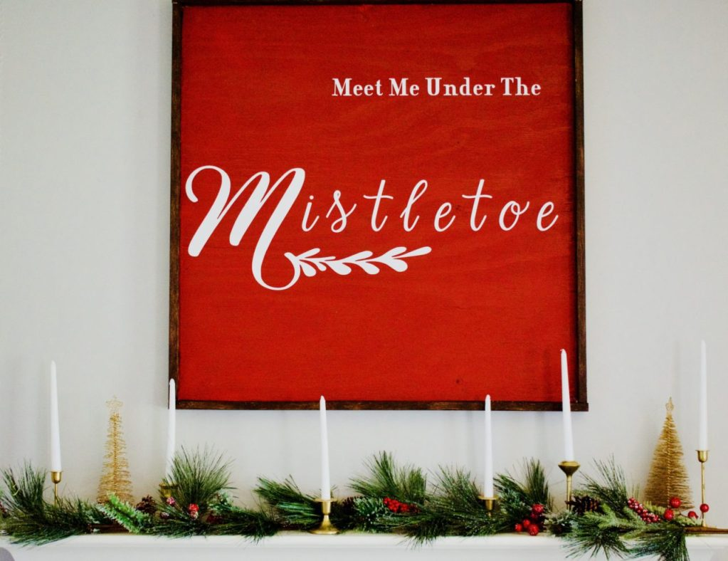 Christmas Sign, Deck the halls challenge, diy, wood sign, large sign, large Christmas sign, holiday decor, Christmas decor, Christmas mantle decor, Christmas mantle.