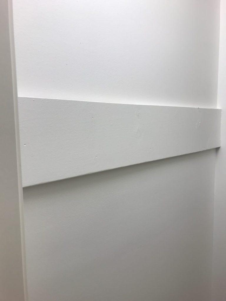 Hooks, linen closet, how to hang, wall hangings, linen closet renovation, $100 room challenge, room renovation