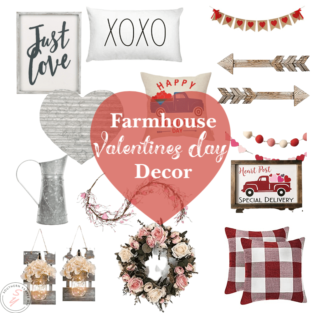 Famrhouse, farmhouse home decor, farmhouse amazon decor, valentine decor, holiday decorating, valentines day, cheap decor, budget savvy decor, famrhouse, modern farmhouse decor, amazon decor, amazon valentines day decor, amazon farmhouse decor