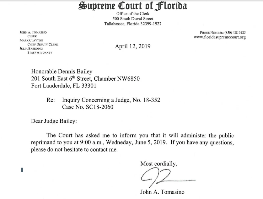 Two More Broward Judges Ordered To Appear Before Florida Supreme Court Dennis Bailey