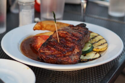 Steak at Ocean 1 Bar and Grill