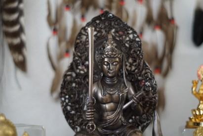 Indian Buddha with sword at Cyrstal Vision
