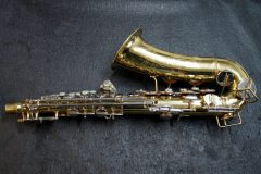 Bent alto sax, before repair.