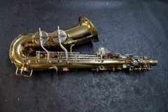 Bent alto sax, after repair.