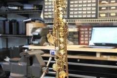 Bent soprano sax, before.