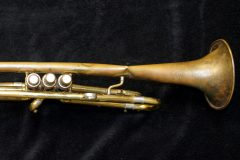 Damaged trumpet, before overhaul.