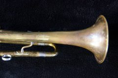 Damaged trumpet, after overhaul.