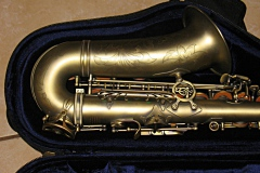 Sax bell, after dent repair.