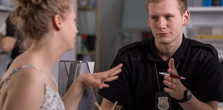 Interview with police officer