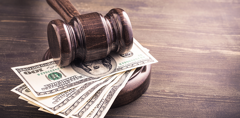 Gavel with cash image