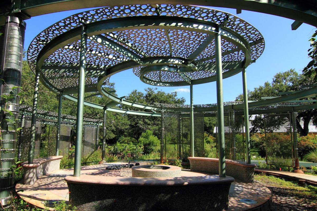 Public art island garden at long key nature center for Dining near bb t center