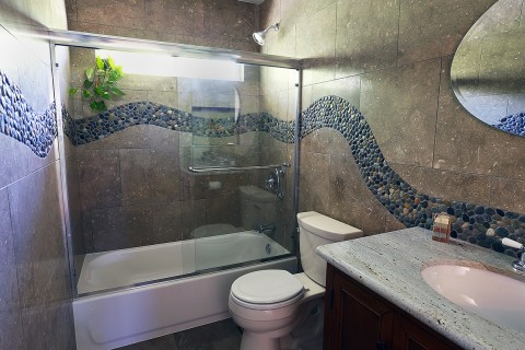 River Stone Bathroom