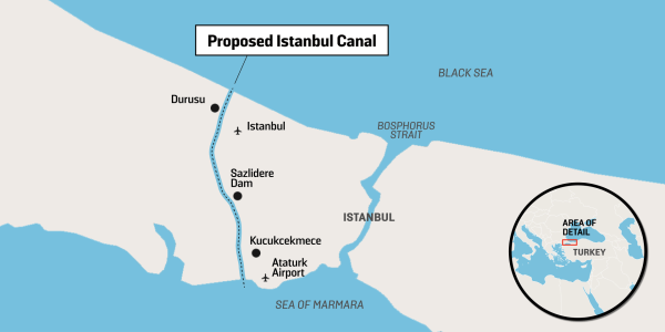 Erdogan Insists On 'Pharaonic' Project Of Istanbul Canal